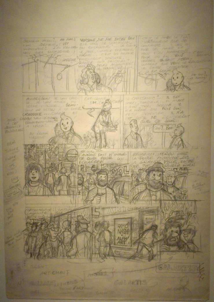 The Adventures of Tintin. Tintin and Alph-art. Pencil on drawing paper (1978-1982)...this was the unfinished work which was published posthumously.jpg
