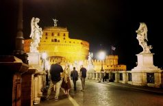 A last look at Rome's gorgeousness by night.