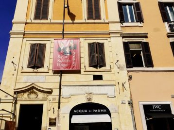 The building at the foot of the Spanish Steps where Keats and Shelley stayed during their Grand Tour.