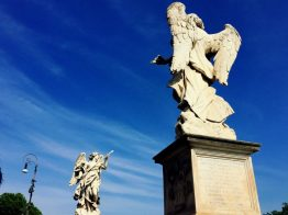 Angels on the Ponte Sant'Angelo, which was once the Bridge of Hadrian.