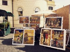 Paintings. The Spanish Steps.