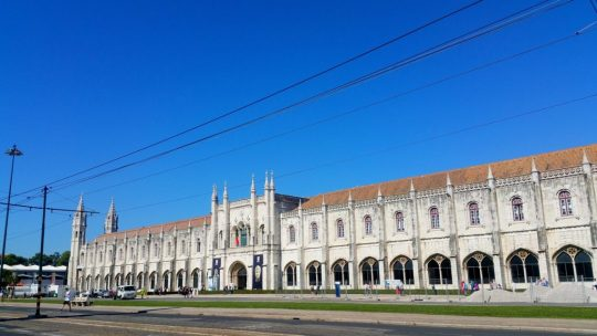 Monastery of Jerónimos. A monastery of the Order of Saint Jerome near the Tagus river in the parish of Belém which stretches on and on, so that a panorama cannot do it justice even.