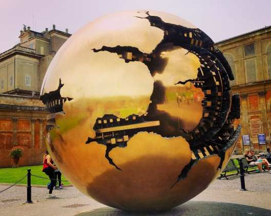 Sphere within a Sphere. An art work in the courtyard of The Vatican.