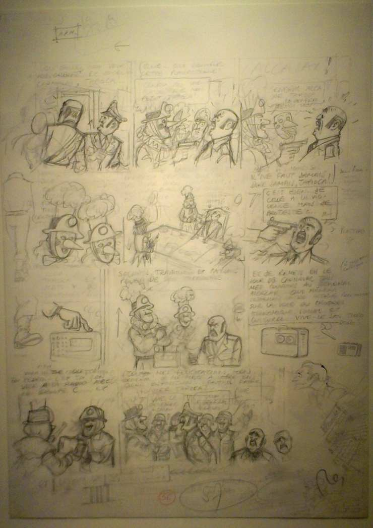 The Adventures of Tintin. Tintin and the Picaros. Pencil on drawing paper (70s).jpg