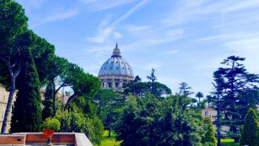 A view of St. Peter's Basilica from the Vatican.