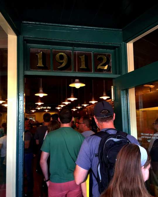 The numbers above the doorway are a reference to the its location - 1912 Pike Place.
