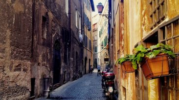 Rome lives in its alleys.
